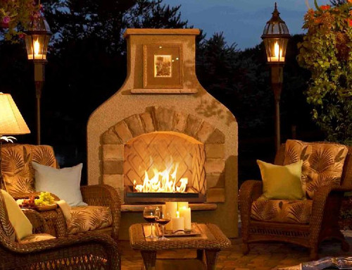 Outdoor GreatRoom Sonoma Gas Fireplace-Mocha