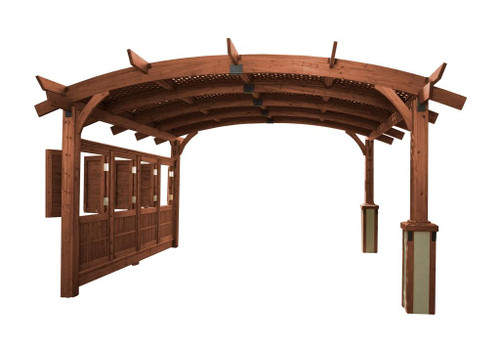Outdoor GreatRoom 16x16' Mocha Sonoma Wood Pergola Kit