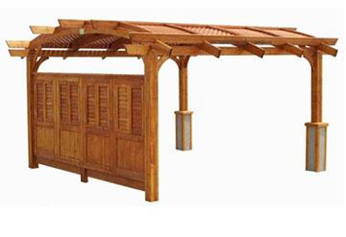 Outdoor GreatRoom 12x16' Redwood Sonoma Wood Pergola Kit