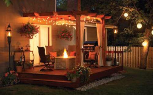 Outdoor GreatRoom 12'x12' Redwood Sonoma Wood Pergola Kit