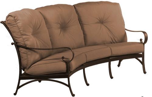 Hanamint-Alu-Mont Santa Barbara Deep Seating Crescent Sofa