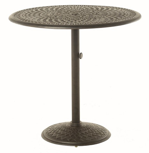 """Hanamint Table Bella 42"""" Round Pedestal Counter Height Table"""
