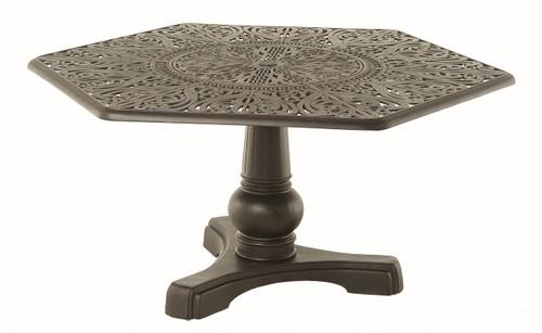 """Hanamint Tuscany 54"""" Hexagonal Inlaid Lazy Susan Table"""