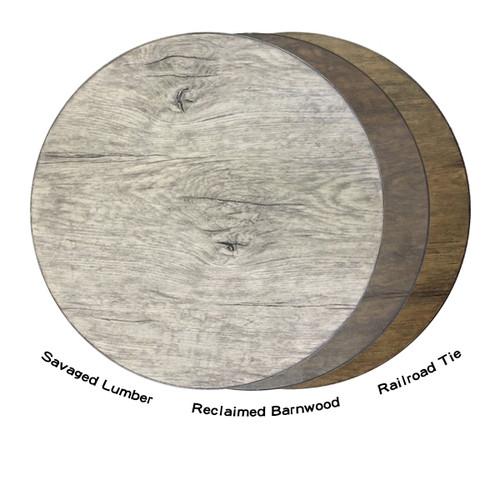 Patio Renaissance Erie Etched Aluminum Faux Wood Top