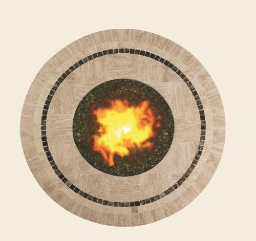 Patio Renaissance Round Gas Fire Pit, Nevis Top