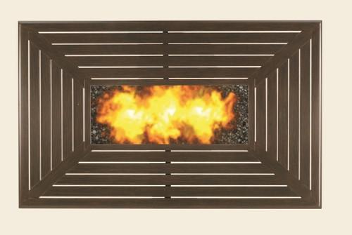 Patio Renaissance Rectangle Gas Fire Pit, Farnham Top
