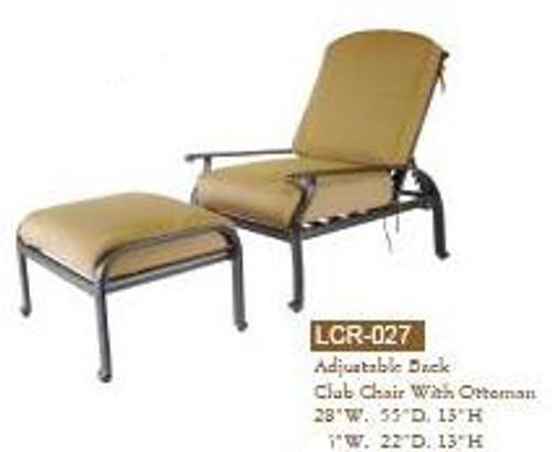 DWL Garden Lillian Adjustable Back Club Chair with Ottoman