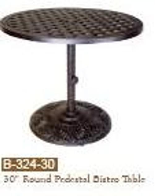 """DWL Garden 30"""" Round Pedestal Bistro Table"""