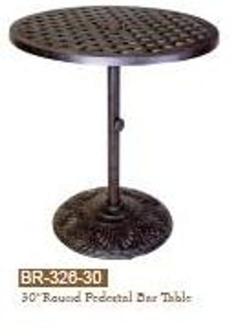 """DWL Garden 30"""" Round Pedestal Bar Table"""