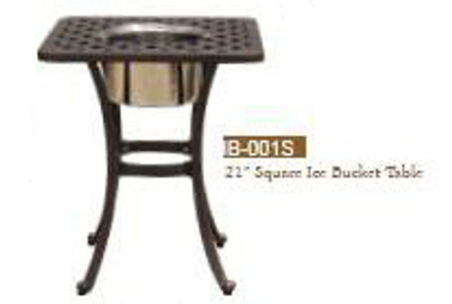 "DWL Garden 21"" Square Ice Bucket Table"
