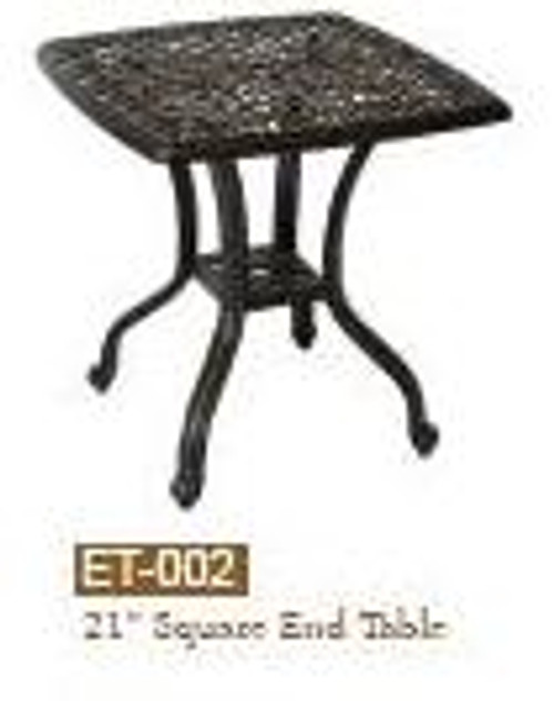 """DWL Garden 21"""" Square End Table-1"""