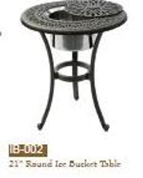 "DWL Garden 21"" Round Ice Bucket Table-1"