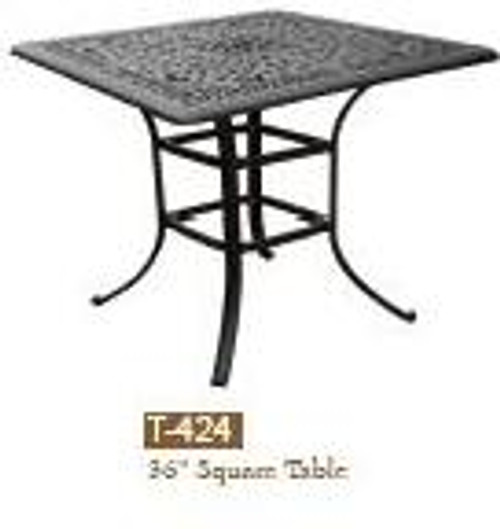 "DWL Garden 36"" Square Table"
