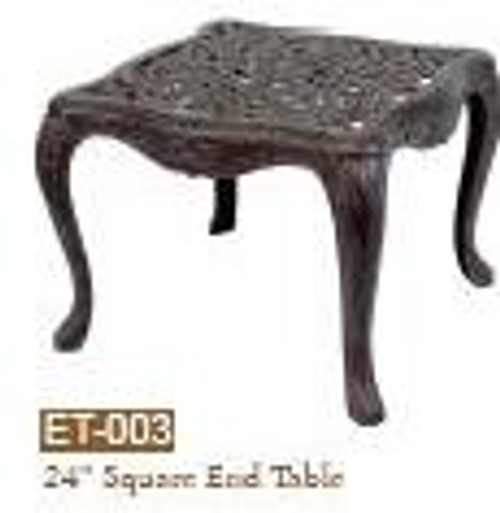"""DWL Garden 24"""" Square End Table"""