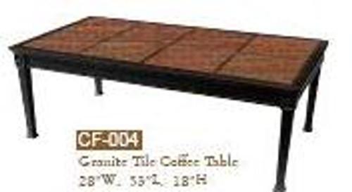 "DWL Garden 28""x53"" Granite Tile Coffee Table"
