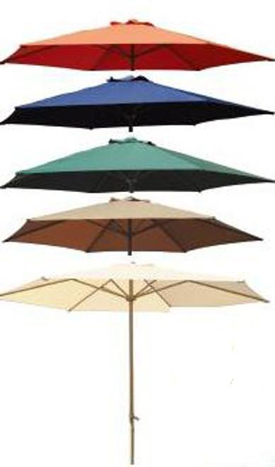 DWL Garden 9 ft Aluminum Umbrella with Crank