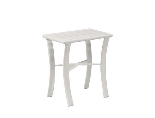 "hanamint Table, 12"" x 18"" Aluminum Slat Tea Table"