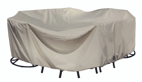 Treasure Garden Protective Furniture Covers Fits all Medium Oval/Rectangle Table & Chairs-1