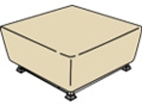"""Treasure Garden Protective Furniture Covers 42"""" to 48"""" Sq Fire Pit"""