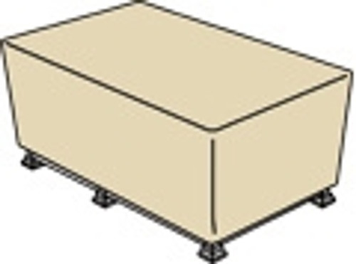 """Treasure Garden Protective Furniture Covers 50"""" to 30"""" Rectangle Fire Pit"""