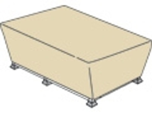 """Treasure Garden Protective Furniture Covers 59"""" to 39"""" Rectangle Fire Pit"""