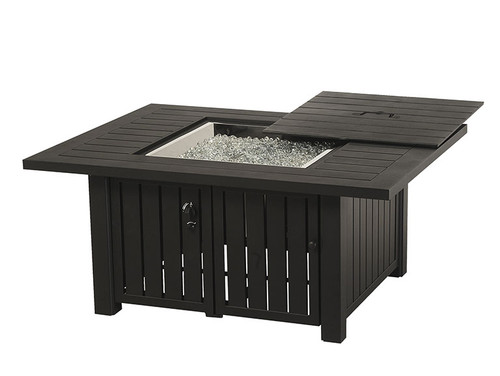 "Sherwood 39"" x 56"" Rectangular Enclosed Gas Fire Pit Table"