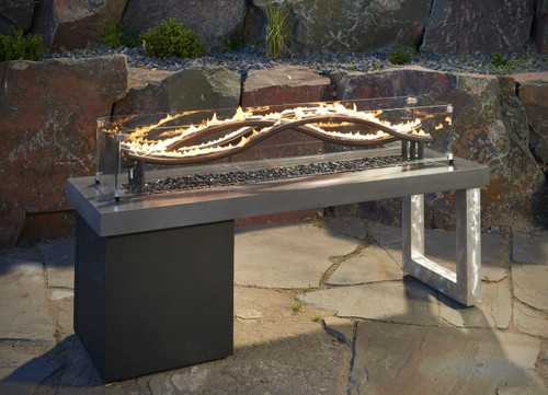 Outdoor Greatroom Wave Gas Fire Pit Table