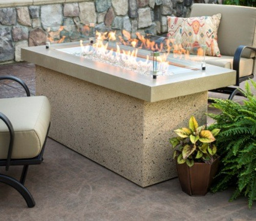 Outdoor Greatroom - Key Largo Fire Pit with Super Cast Top in Grey