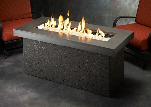 Outdoor Greatroom - Key Largo Fire Pit with Super Cast Top in Polished Brown
