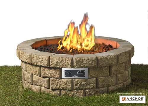 Outdoor Greatroom - Hudson Stone Fire Pit Kit