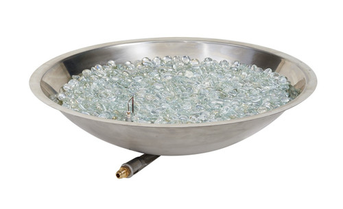 """Outdoor Greatroom 20"""" Round Stainless Steel Crystal Fire Burner"""