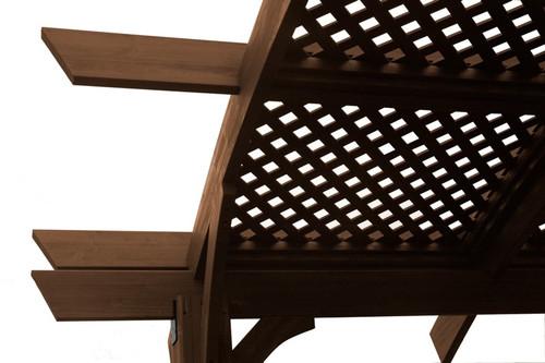 Outdoor Greatroom Mocha Wood Lattice for 16' x 16' Sonoma Pergola