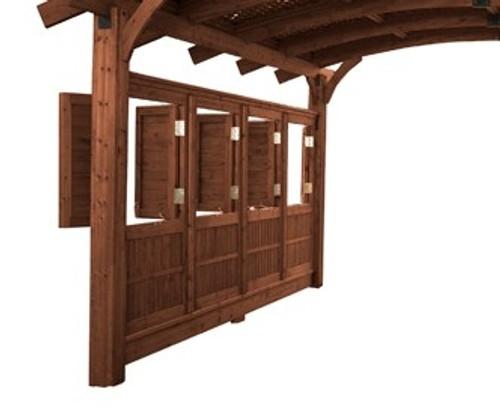 Outdoor Greatroom Mocha Wood Wall for 16x16' Sonoma Pergola