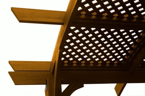 Outdoor Greatroom Redwood Wood Lattice for 12 x 12' Sonoma Pergola