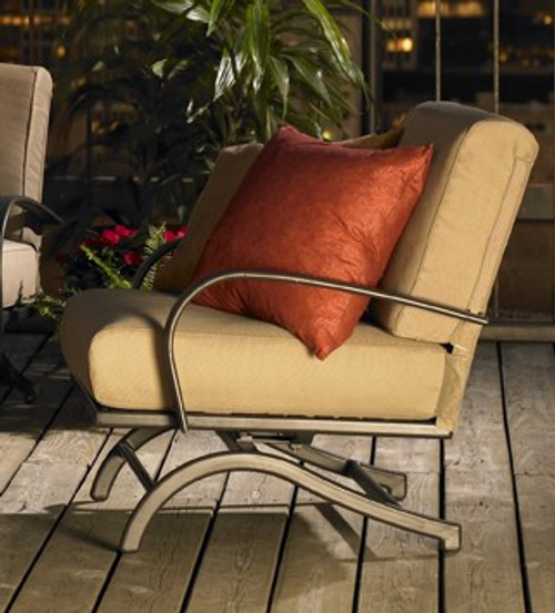 Outdoor Greatroom Tan Chat Rocker Chairs (set of 2)
