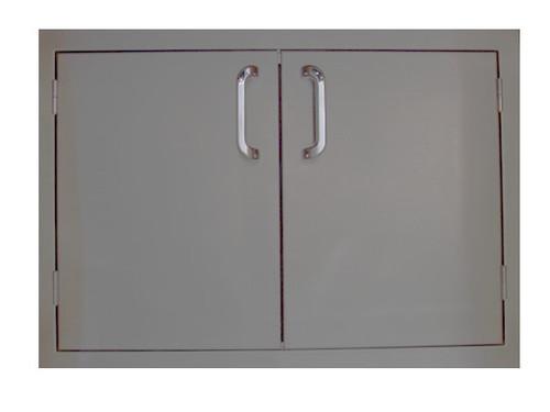 """Outdoor Greatroom 30"""" Double Access Door- Stainless Steel"""