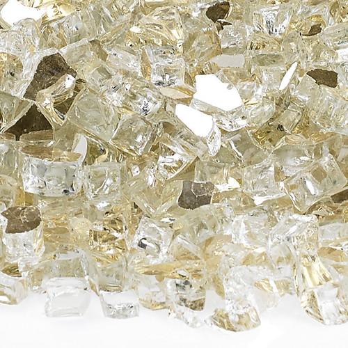 """American Fireglass 1/4"""" Gold Reflective Fire Glass"""