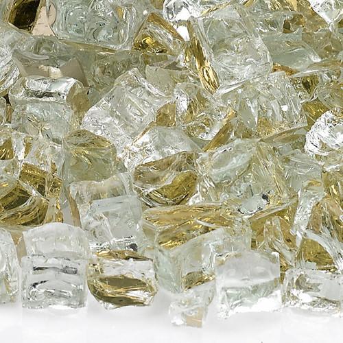 """American Fireglass 1/2"""" Gold Reflective Fire Glass"""