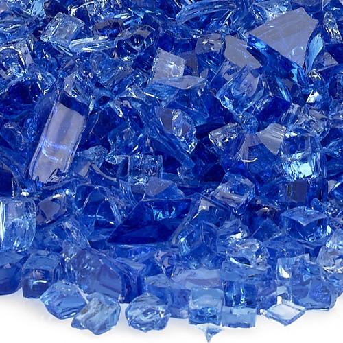 """American Fireglass 1/4"""" Cobalt Blue Fire Glass"""