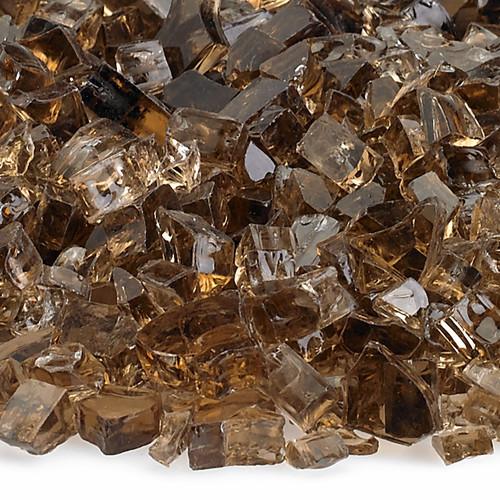 """American Fireglass 1/4"""" Copper Fire Glass"""