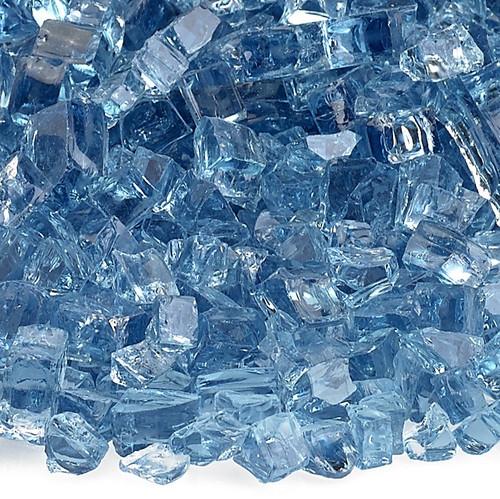 """American Fireglass 1/4"""" Pacific Blue Fire Glass"""