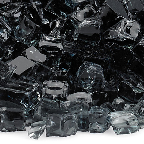 "American Fireglass 1/2"" Black Fire Glass"