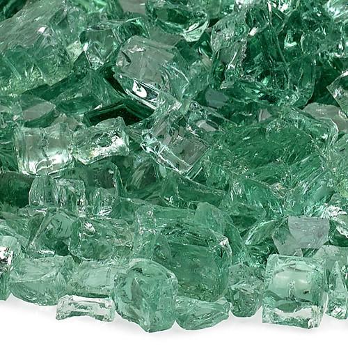 """American Fireglass 1/2"""" Evergreen Fire Glass"""