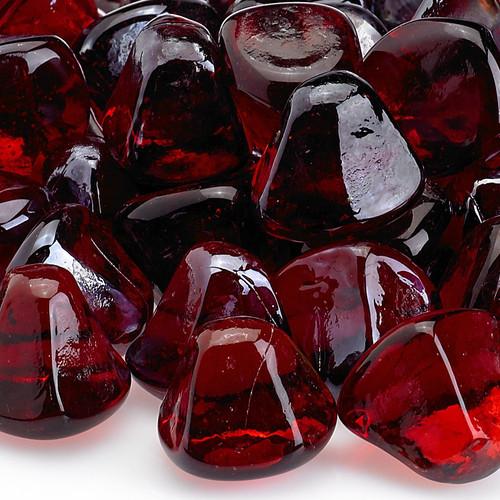 American Fireglass Ruby Red Luster Zircon Fire Glass