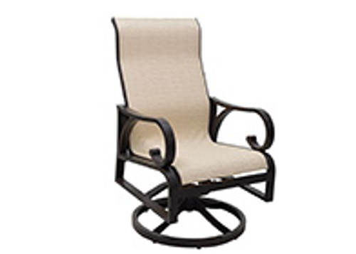 Patio Renaissance Key Largo Sling Dining Swivel Rocker