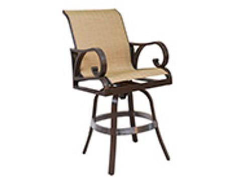 Patio Renaissance Key Largo Collection Sling Swivel Bar Chair