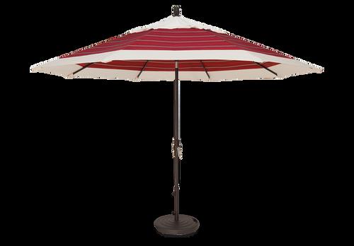 Treasure Garden Market Umbrellas, 11' Collar Tilt Umbrella Double Wind Vent