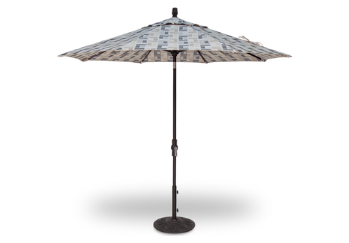 Treasure Garden Market Umbrellas, 9′ Collar Tilt Umbrella DWV (Double wind vent)