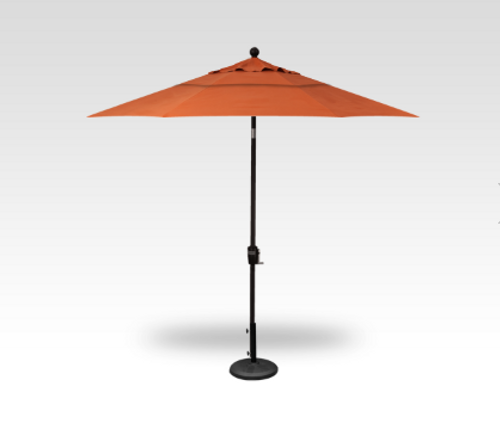 Treasure Garden Market Umbrellas, 9′ Push Button Tilt Umbrella DWV (double wind vent)