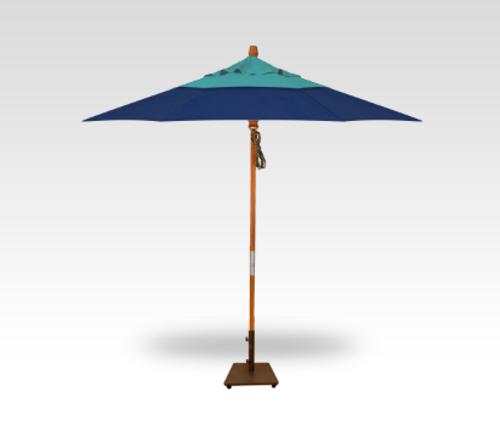 Treasure Garden 9′ Quad Pulley Lift Umbrella DWV (Double Wind Vent)